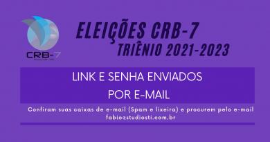 Eleições CRB-7 | Triênio 2021-2023 | Votação Liberada