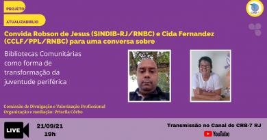 AtualizaBiblio – Live com Robson de Jesus Rua e Cida Fernandez